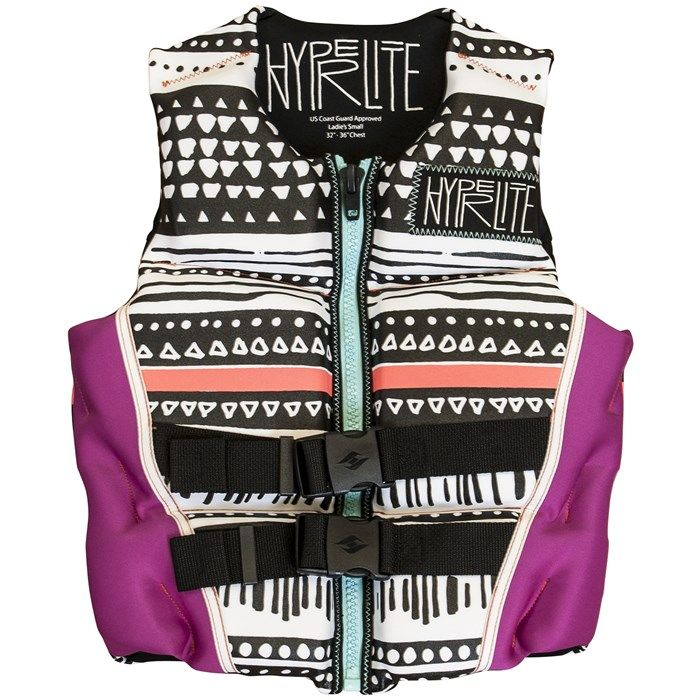 This super cute and comfortable wakeboard vest from Hyperlite is also USCG Approved type III personal flotation device, so it'll keep you safe out on the water!