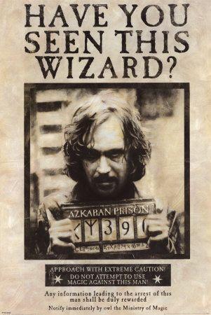 harry Potter Poster Wanted Prisoner of Azkaban - Buscar con Google
