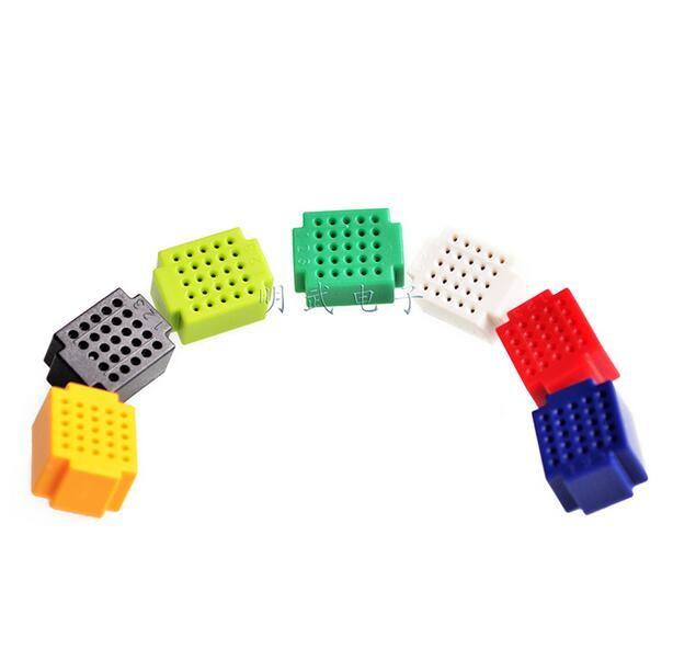 7 unids/lote ZY25 No Amplia 25 Agujero PCB placas de Circuitos De Soldadura Soldadura de Mini Pan Placa de Prueba 7 Color