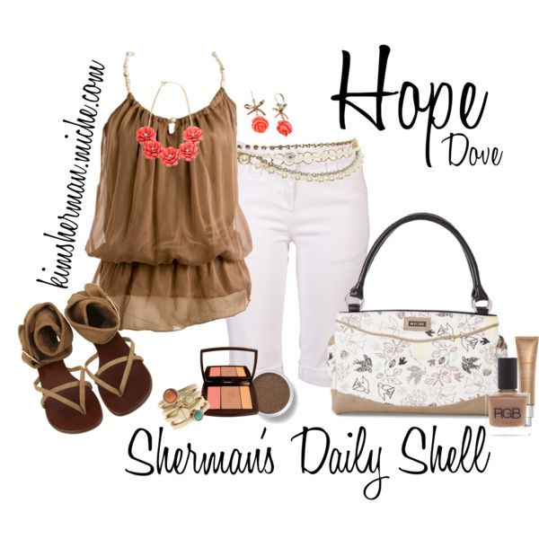 """""""MICHE Hope Dove Classic"""" by kimsherman on Polyvore"""