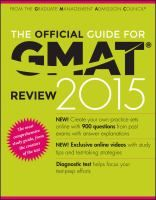 The official guide for GMAT review 2015, ebook