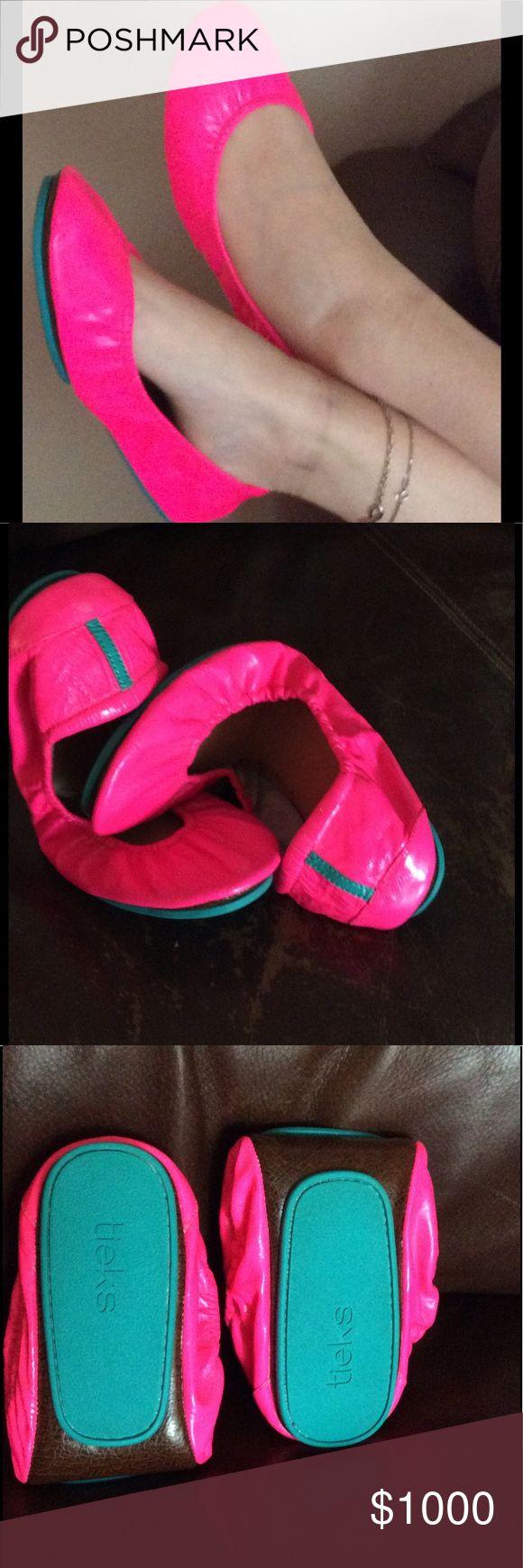 Tieks Just sharing NOT FOR SALE!  Pop pink  Tieks Shoes Flats & Loafers