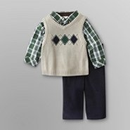 Holiday Editions Newborn Boy's Vest Set - Argyle at Kmart.com