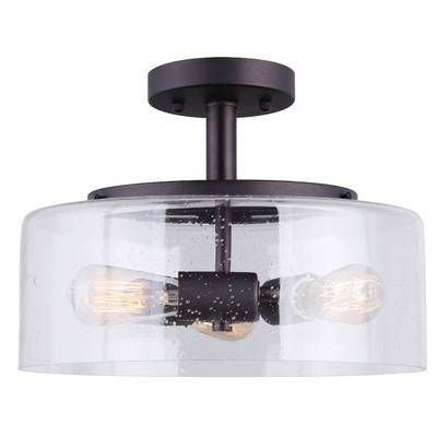 3b8d5261e3855 Harborcreek 3-Light Semi Flush Mount   Reviews