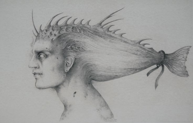 Alessandro De Michele, Plancton, 2004 Pencil drawing on paper, 50 x 30 cm