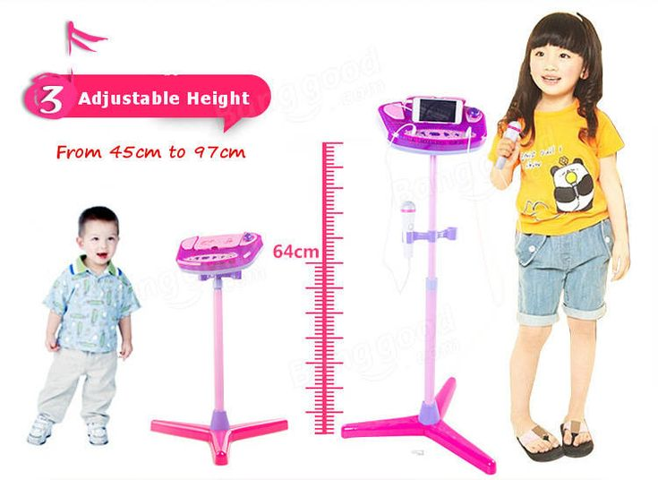 Adjustable Stand With 2 Microphones Karaoke Music Toys for Kids