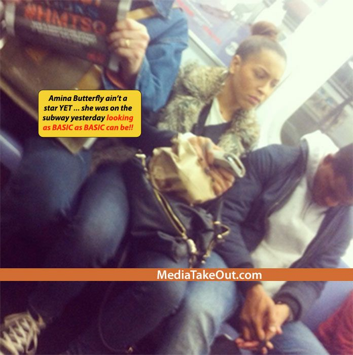 Love And Hip Hop's Amina Butterflys Career AIN'T TAKE OFF YET . . . Cause She Was Spotted On The SUBWAY Yesterday . . . Looking Like As BASIC AS BASIC CAN BE!!! - MediaTakeOut.com™ 2013