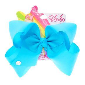 JoJo Siwa Large Bright Blue Neon Hair Bow,