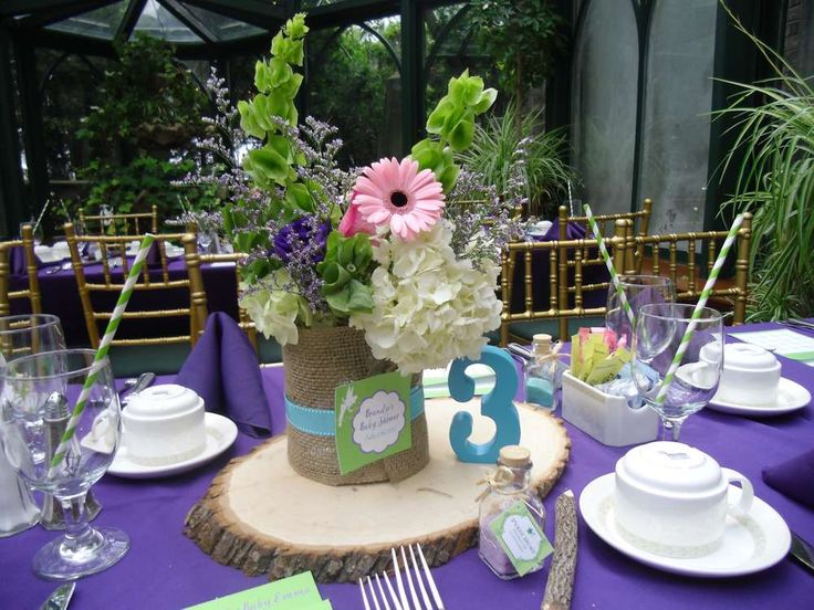 Pretty Centerpiece At A Tinkerbell Baby Shower Party! See More Party  Planning Ideas At CatchMyParty