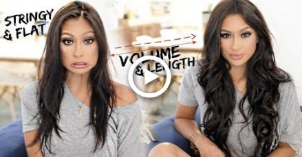 THIN TO THICK HAIR | HOW TO APPLY & STYLE EXTENSIONS ON THIN HAIR!