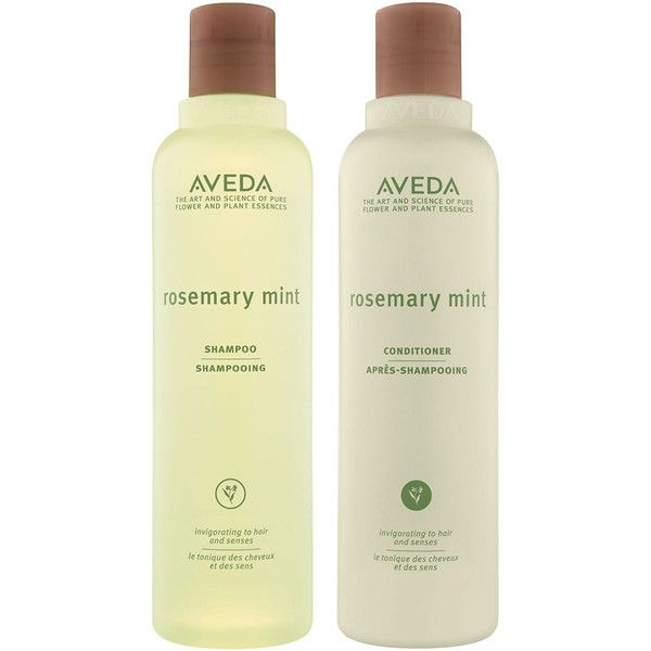 Aveda Rosemary Mint Conditioner and Rosemary Mint Shampoo (490 MXN) ❤ liked on Polyvore featuring beauty products, haircare, hair shampoo, no color, aveda hair care, fine hair shampoo, fine hair care and aveda haircare
