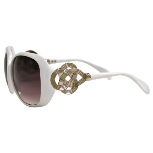 White & Silver Big Celtic Knot Oversized Sunglasses Designer Eyewear. $9.99. Imported. Trendy & Fashion Forward. Blocks 100% UVA & UVB Rays. Save 63% Off!