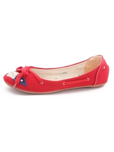 Numero Uno Ballerina Shoes with Metal Rivets