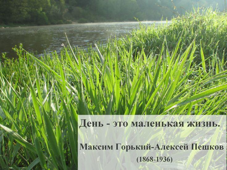 День - это маленькая жизнь. Максим Горький-Алексей Пешков (1868-1936).