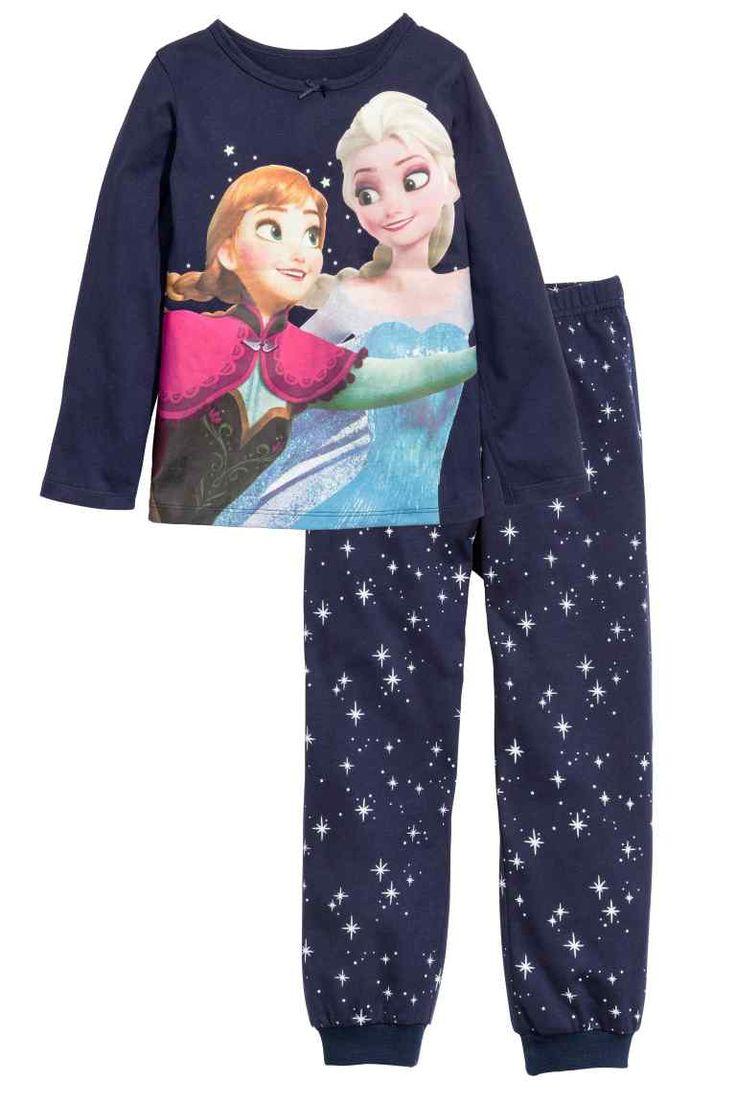 Pijama de punto | H&M | Pijama, Pijamas para niñas y Ropa ...