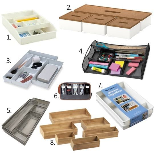 1000 ideas about desk drawer organizers on pinterest - Desk drawer organizer trays ...