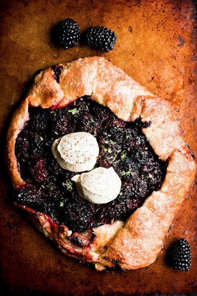 Hummingbird High: Rustic Blackberry and Lime Galette