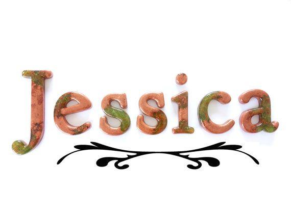 Artisan Decorative Girls Name Sign Jessica. by WordosaurusText, $56.00