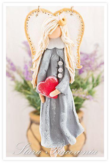 Aniołki z masy solnej, masa solna, anioł anioły z masy solnej, aniołki z masy solnej, salt dough angels www.masa-solna.pl www.starapracownia.blogspot.com