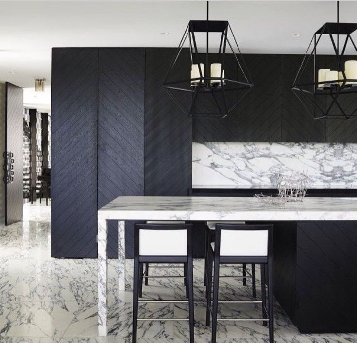 Love the idea of herringbone cabinetry in kitchen. Lux finishes. Specialty hardware. 'Hotel Vibe'