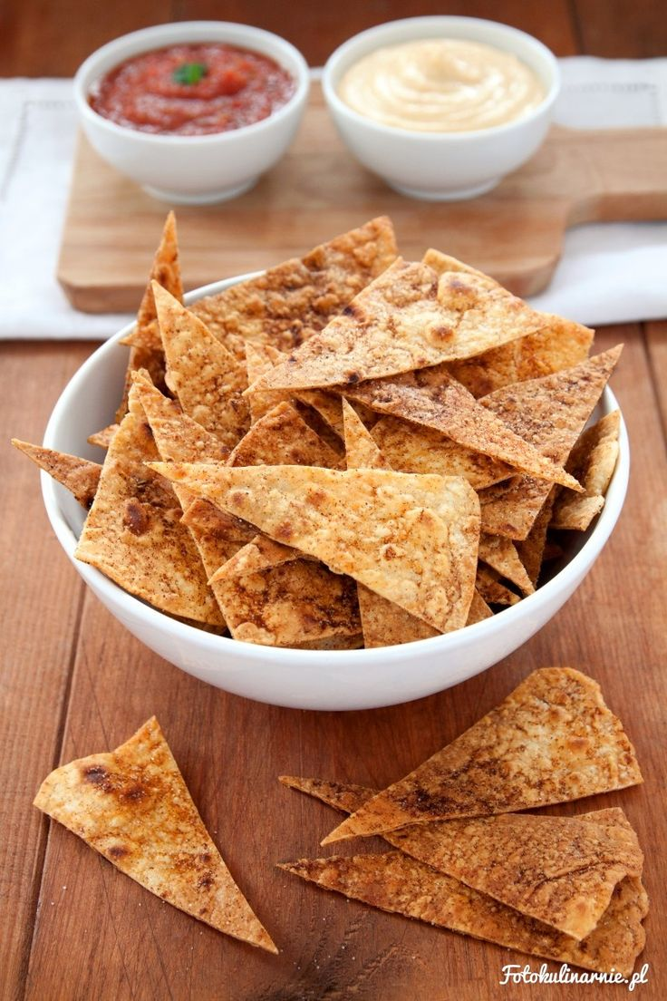 Crunchy and Spicy Homemade Tortilla Chips - Mexican Nachos.