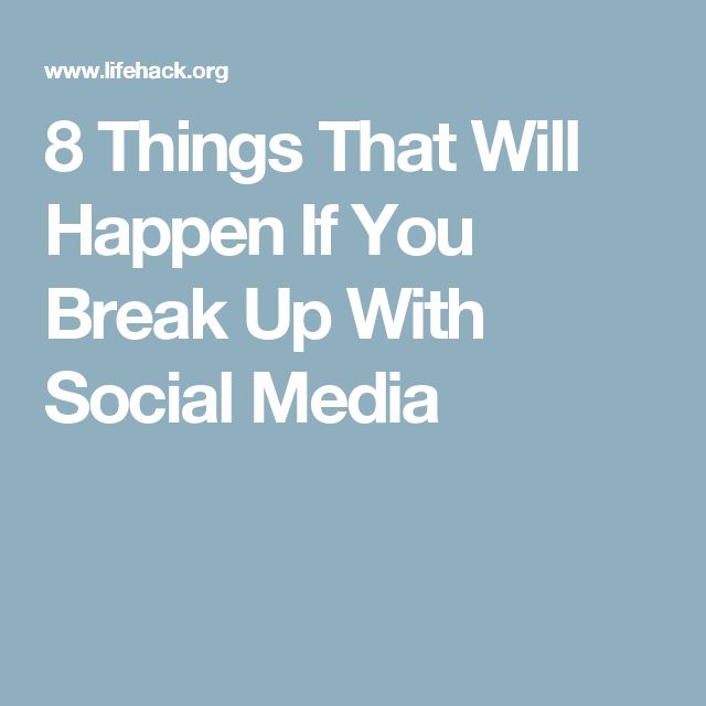 "I don't believe that ""breaking up with social media"" will make me more productive or appreciate things around me better. I could be productive and appreciative of my surroundings while still connected on my social media."