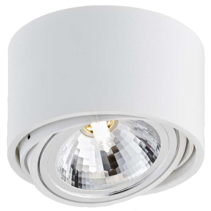 Spot LAMPA sufitowa LUMOS 1 70251101 Kaspa natynkowa OPRAWA stropowa IP20 regulowana halogen biały