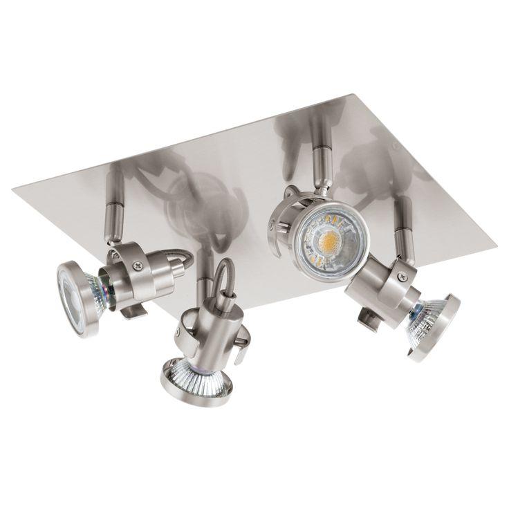 25.200,-  EGLO 94147 Led-es mennyezeti 4xGU10 3,3W matt nikkel Tukon3 / Eglo lámpák /-94147 Tukon3 - Lámpa Outlet hagyományos és Modern Mennyezeti Lámpák Kedvezményes Áron - Akciós lámpák - Kiemelt lámpa és csillár termékeink.