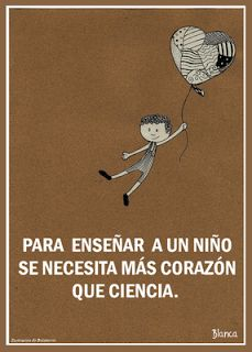 Spanish quote about teaching children, frase sobre enseñar a los niños