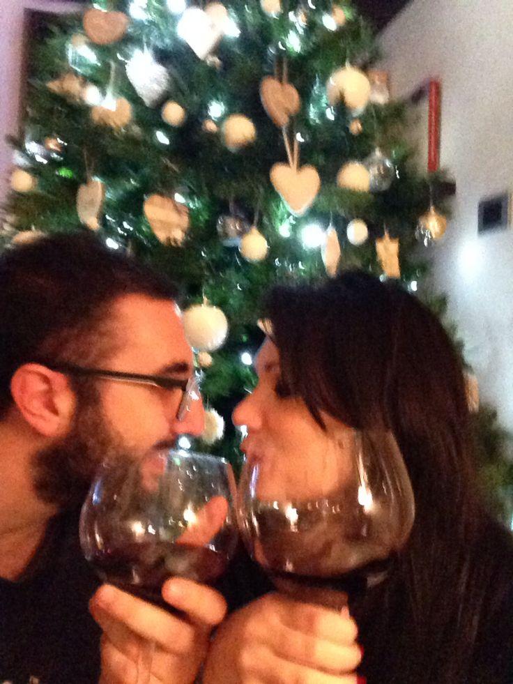Vino in Christmas Tree