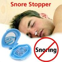 Hot Sale Silicon Stop Snoring Nose Clip Anti Snore Sleep Apnea Help Aid Device Tray   100% Brand New