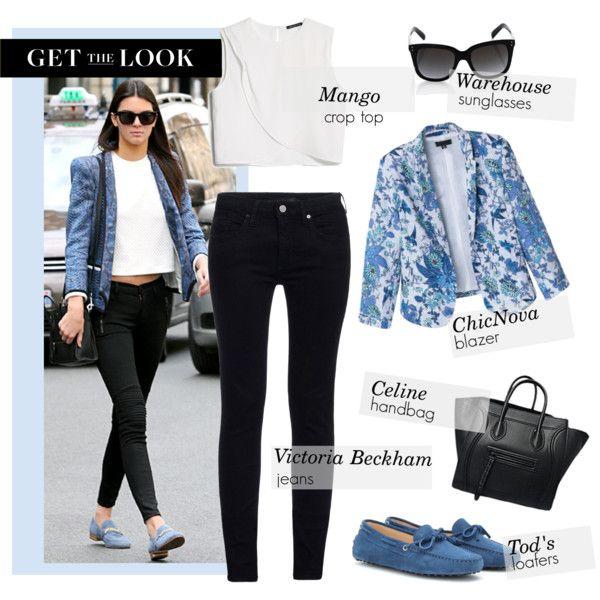 """Get the Look: Feelin' Blue"" by mplusk on Polyvore #kendalljenner #kardashians"