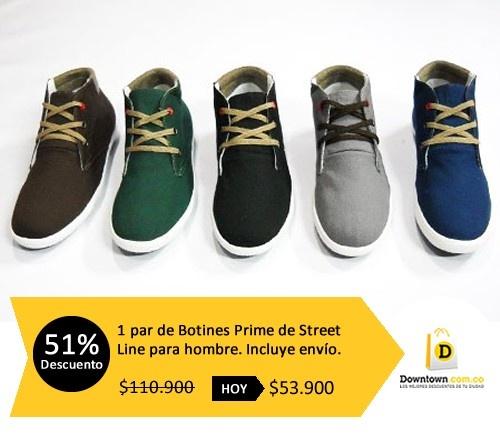 ¡Usa comodidad y estilo! Botines en dril y duplo, con forro textil y suela en TR. Cómpralos con 51% de descuento en: Downtown.com.co