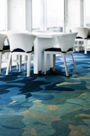 Bondi Icebergs, Sydney. Custom design Axminster carpet. Ocean inspired for this beachside location.
