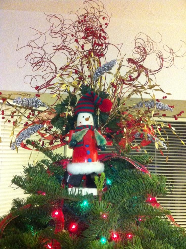 Nutcracker snowman christmas tree topper holidays