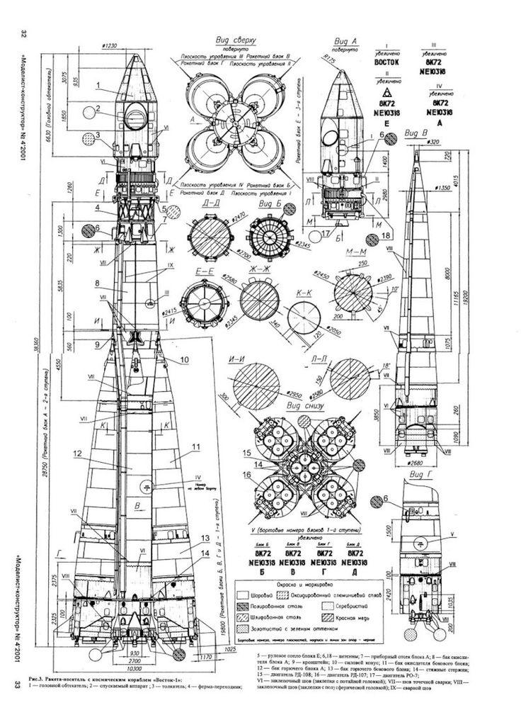 Plan / Squelette d'une fusée