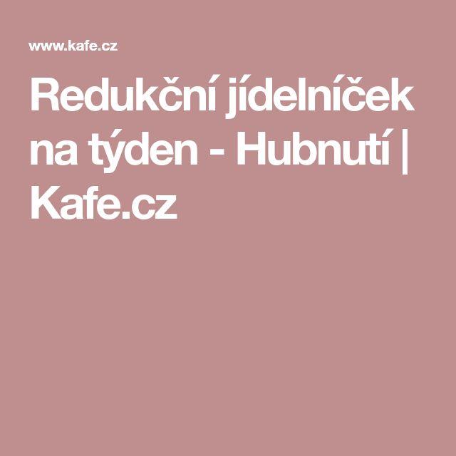 Redukční jídelníček na týden - Hubnutí | Kafe.cz