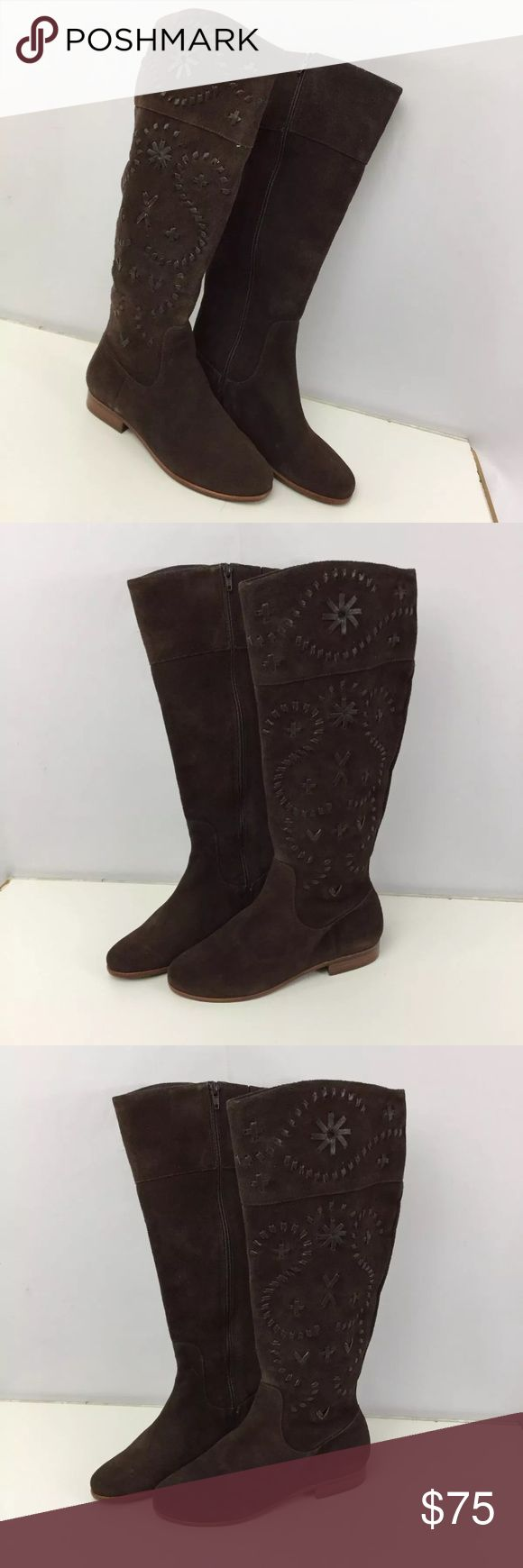 Jack Rogers 6.5 Brown Tall Boots Leather Stitching Jack Rogers 6.5 6 1/2 Brown Tall Boots Leather Stitching Embroidery Zip Up. Brand New. Smoke free home. Jack Rogers Shoes Heeled Boots