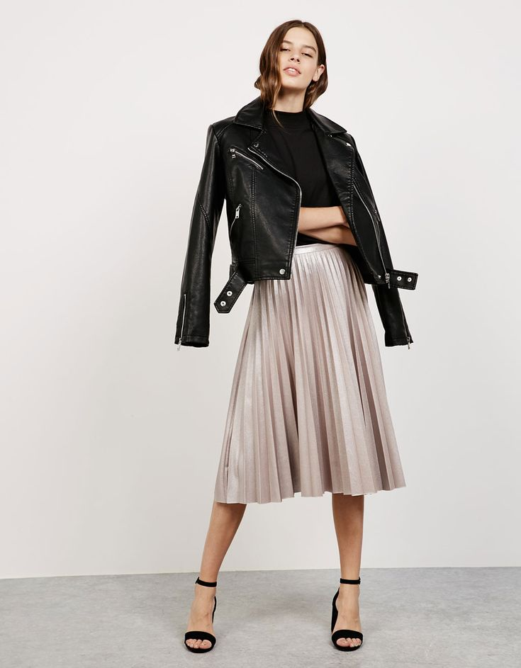 'Shine like a Star' pleated skirt - Skirts - Bershka Mexico