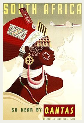 Vintage Travel Posters South Africa 1
