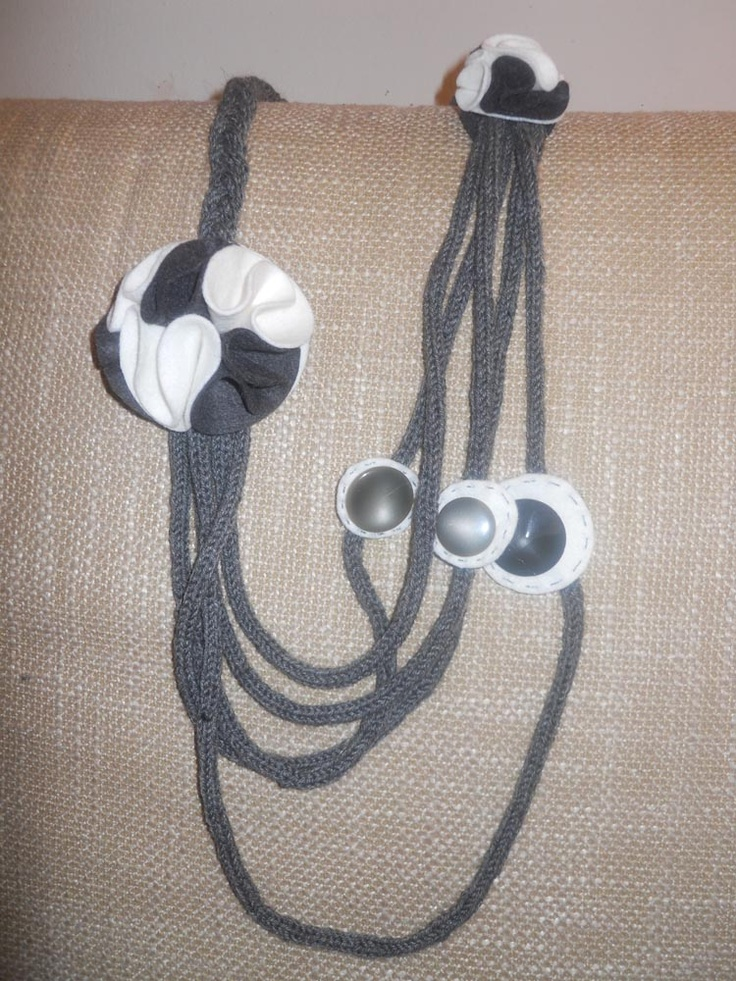 Collana lana e feltro