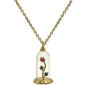 Disney Couture Beauty & the Beast Rose In Glass