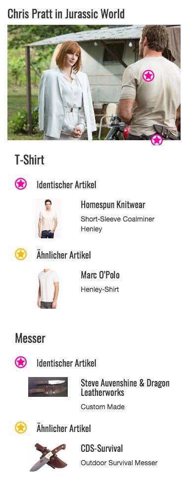 Ganz im Stil der anderen Naturfarben im Outfit von Owen Grady (Chris Pratt) fügt sich auch sein Henleyshirt von Homespun Knitwear in hellem Beige in den Look des Raptorenpflegers ein. Die kurzen Ärmel des Oberteils betonen seine muskulösen Arme und der helle Farbton seine leicht gebräunte Haut. Aber nicht nur optisch kann das Shirt überzeugen, auch in der Praxis punktet es mit seinen atmungsaktiven Naturfasern. Grady hat also einmal mehr ein Händchen für Fashion bewiesen und sich einen…