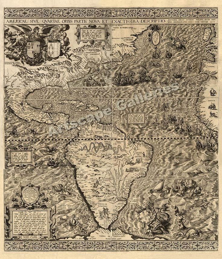 Freer Texas Map%0A      America New World Map Art Print    x    Vintage