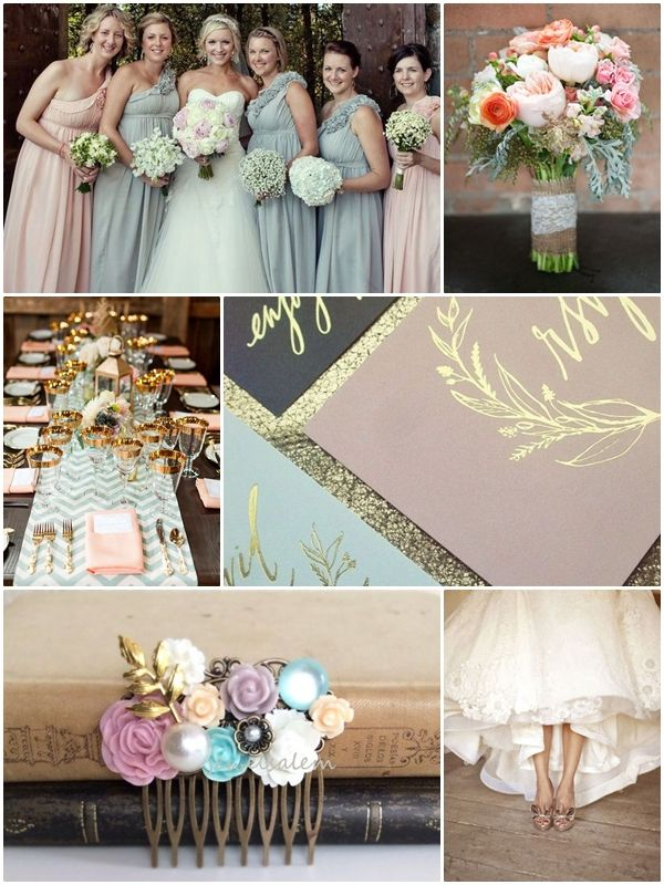 Wedding Philippines Weddings By Color Pastel Pink Blue Gray Gold