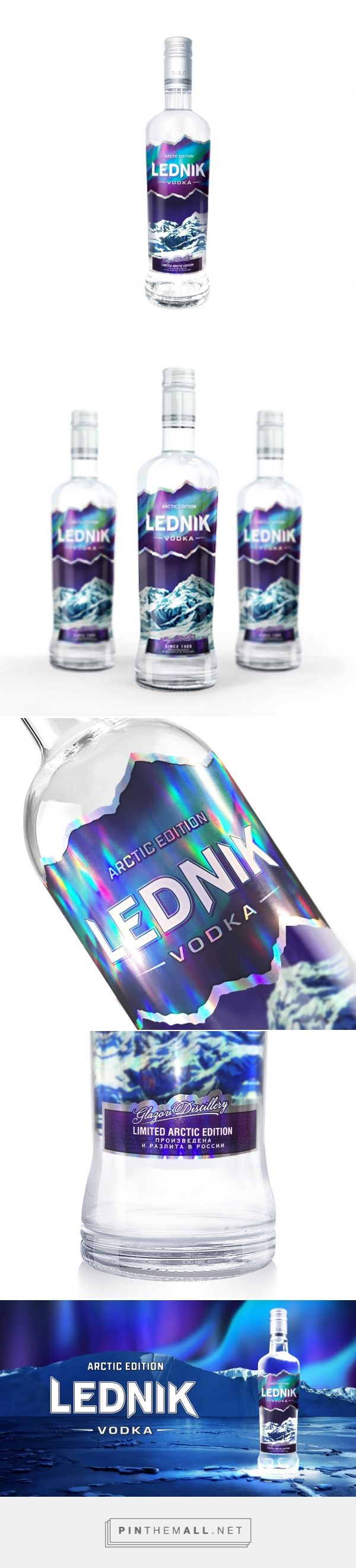 Lednik Arctic Edition packaging design by Ural Branding Company - http://www.packagingoftheworld.com/2017/06/lednik-arctic-edition.html - created via https://pinthemall.net
