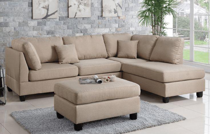 Ashmore Chaise Sofa Sand