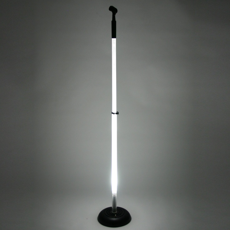 Hottie - LED Lighted Microphone Stand with Round Base WHITE LED. $119.00, via Etsy.