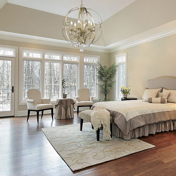 Hamptons Inspired Luxury Home Master Bedroom Robeson: House Of Hampton Harry 6-Light Candle-Style Chandelier In