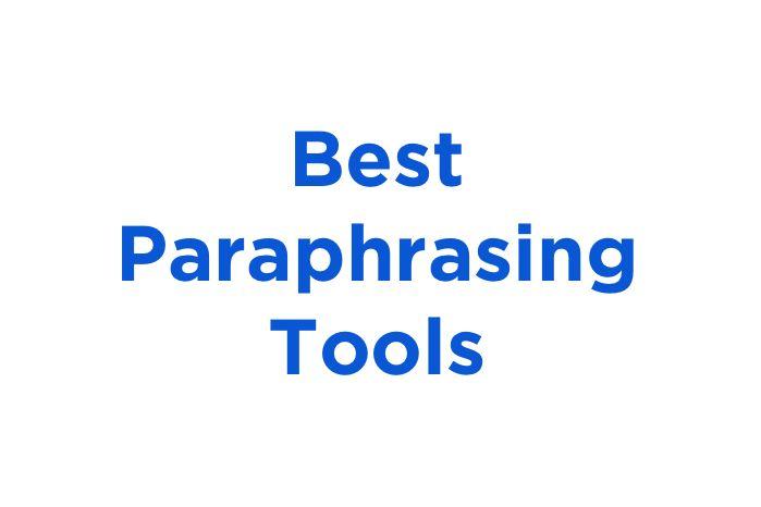 5 Best Paraphrasing Tool Paper Writing Service Research Paraphrase English Generator